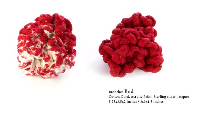 Myung Urso  - brooches RED 2014